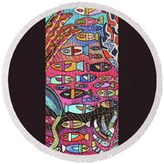 Santa Catalina Island Reef  Round Beach Towel