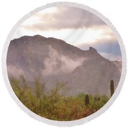 Santa Catalina Mountains II Round Beach Towel
