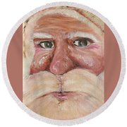 Santa Claus  Round Beach Towel