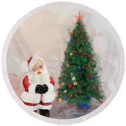Round Beach Towel featuring the photograph Santa Clause by Mary Timman