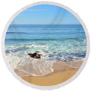 Santa Cruz Private Beach Round Beach Towel