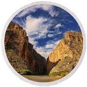 Santa Elena Canyon 3 Round Beach Towel