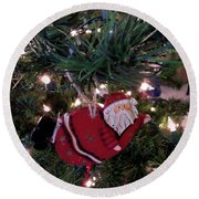 Santa Is Almost Here Round Beach Towel