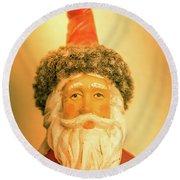 Santa Is Watching Round Beach Towel