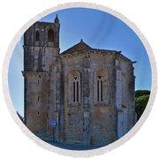 Santa Maria Do Carmo Church In Lourinha. Portugal Round Beach Towel