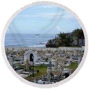 Santa Maria Magdalena De Pazzis Cemetery, Old San Juan Round Beach Towel