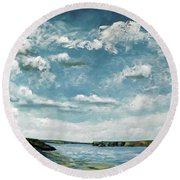 Santa Rosa Lake 1 Round Beach Towel