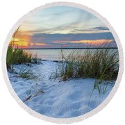 Santa Rosa Sound Sunset Round Beach Towel