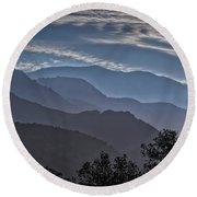 Round Beach Towel featuring the photograph Santa Ynez Mountains by Mitch Shindelbower