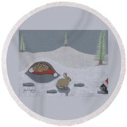 Santa's Ultimate Gift Round Beach Towel