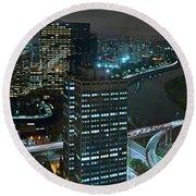 Sao Paulo Skyline Modern Corporate Districts Brooklin Morumbi Chacara Santo Antonio Round Beach Towel