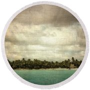 Saona Island , Santo Domingo Round Beach Towel by Vittorio Chiampan
