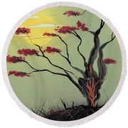 Sapling Round Beach Towel