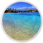 Sapphire Glow Round Beach Towel