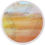 Sapphire Sunrise Autumn Round Beach Towel