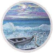 Saquish Irish Rover Round Beach Towel by Rita Brown