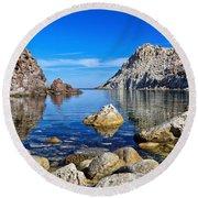 Sardinia - Calafico Bay  Round Beach Towel