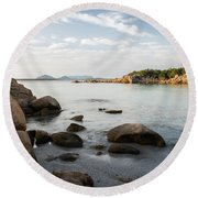 Round Beach Towel featuring the photograph Sardinian Coast by Yuri Santin