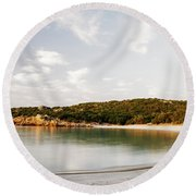 Round Beach Towel featuring the photograph Sardinian View by Yuri Santin