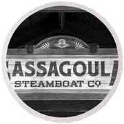Sassagoula Steamboat Company Sign Round Beach Towel