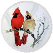 Sassy Pair Round Beach Towel