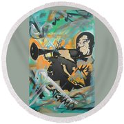 Satch Armstrong Round Beach Towel