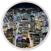 Seattle Lights Round Beach Towel