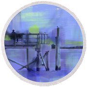Saturday Idyll Round Beach Towel