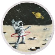 Saturn Ring Round Beach Towel