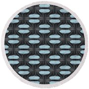 Saucers Round Beach Towel