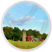 Sauer Farm, Mt. Marion Round Beach Towel