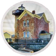 Saugerties Lighthouse Round Beach Towel