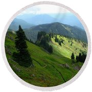 Sauk Mountain Hillside Round Beach Towel