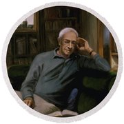 Saul Bellow Round Beach Towel