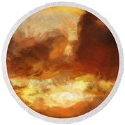 Saulriets Round Beach Towel by Greg Collins