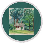 Sauna At Murray Hollow Round Beach Towel by Fred Jinkins
