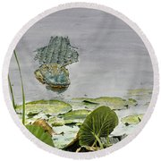 Savannah Gator Round Beach Towel