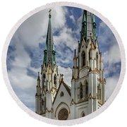 Savannah Historic Cathedral Round Beach Towel