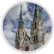 Savannah Historic Cathedral Round Beach Towel