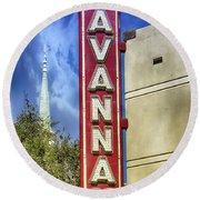 Savannah Landmarks Round Beach Towel