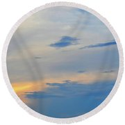 Round Beach Towel featuring the photograph Savannah Sunset by Tara Potts