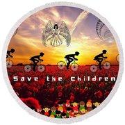 Save The Children Round Beach Towel