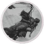 Saved, 1889 Round Beach Towel