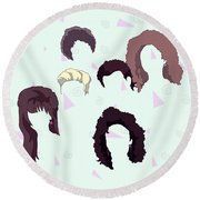 Saved By The Hair Round Beach Towel