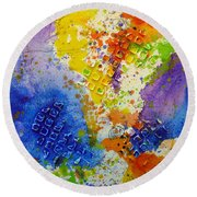 Savor Without Guilt Round Beach Towel
