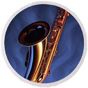 Sax Appeal Round Beach Towel