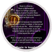 Saxophone Photograph Why Music For T-shirts Posters 4819.02 Round Beach Towel
