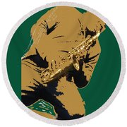 Saxual Passion Round Beach Towel