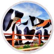 Say Cheese Round Beach Towel by Dale R Carlson