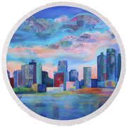 Say Nice Things About Detroit Round Beach Towel